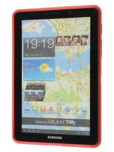 Samsung Galaxy Tab 7.7 P6800 X-Case - Frosted Red/Red
