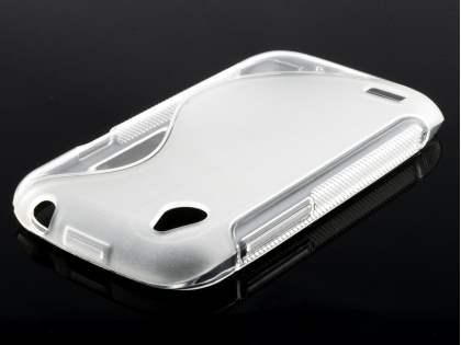 HTC Desire X Wave Case - Clear/Frosted Clear