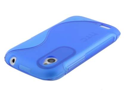 Wave Case for HTC Desire X - Blue/Frosted Blue