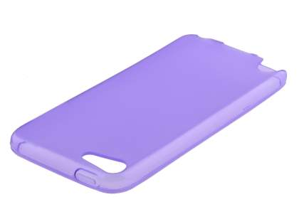 iPod Touch 5 Frosted Colour TPU Gel Case - Purple/Frosted Purple