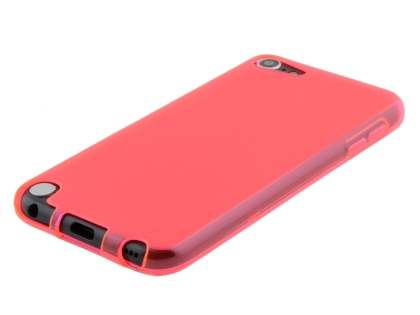 iPod Touch 5 Frosted Colour TPU Gel Case - Pink/Frosted Pink