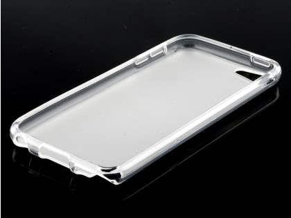 iPod Touch 5 Frosted Colour TPU Gel Case - Frosted Clear/Clear