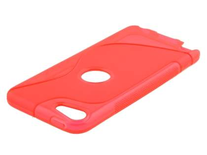 iPod Touch 5 Wave Case - Frosted Red/Red