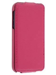 iPhone SE/5s/5 Slim Synthetic Leather Flip Case - Pink Leather Flip Case