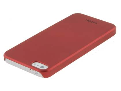 Vollter iPhone SE/5s/5 Ultra Slim Rubberised Case plus Screen Protector - Red