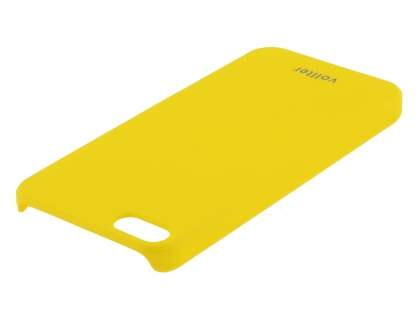 Vollter iPhone SE/5s/5 Ultra Slim Rubberised Case plus Screen Protector - Canary Yellow