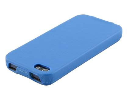 iPhone SE/5s/5 Slim Synthetic Leather Flip Case - Blue