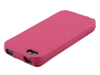 Synthetic Leather Flip Case for iPhone SE/5s/5 - Pink