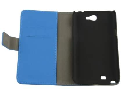Synthetic Leather Wallet Case with Stand for Samsung Galaxy Note 2 4G - Sky Blue