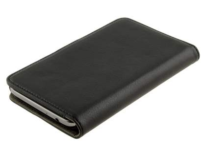 Samsung Galaxy Note 2 4G Synthetic Leather Wallet Case with Stand - Classic Black