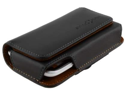 Extra-tough Genuine Leather ShineColours belt pouch for HTC Desire X