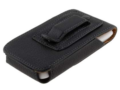 Textured Synthetic Leather Vertical Belt Pouch for HTC Desire X