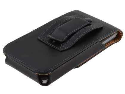 Smooth Synthetic Leather Vertical Belt Pouch for Motorola