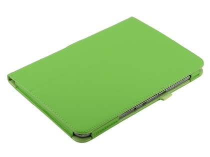 Samsung Galaxy Note 10.1 4G Synthetic Leather Flip Case with Fold-Back Stand - Green