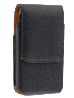Textured Synthetic Leather Vertical Belt Pouch for Samsung Galaxy W I8150
