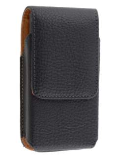 Textured Synthetic Leather Vertical Belt Pouch for Samsung Omnia W I8350