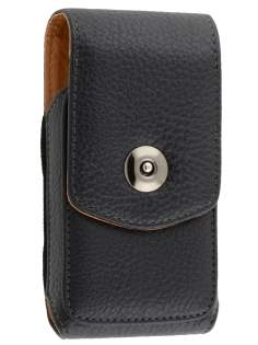 Textured Synthetic Leather Vertical Belt Pouch for Samsung S8500 Wave
