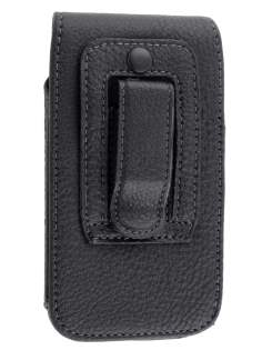 Textured Synthetic Leather Vertical Belt Pouch for HTC One V