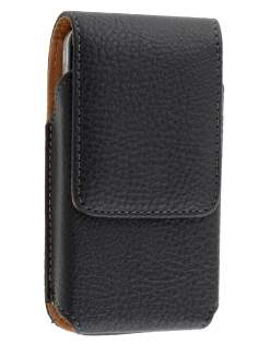 Textured Synthetic Leather Vertical Belt Pouch for iPhone 4/4S - Belt Pouch