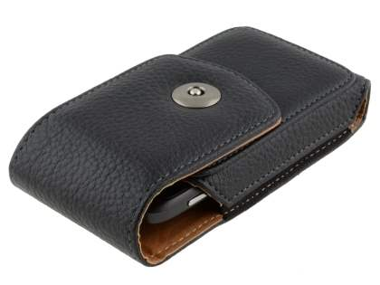 Textured Synthetic Leather Vertical Belt Pouch for HTC Desire S