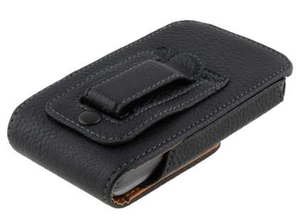 Textured Synthetic Leather Vertical Belt Pouch for HTC Desire Z