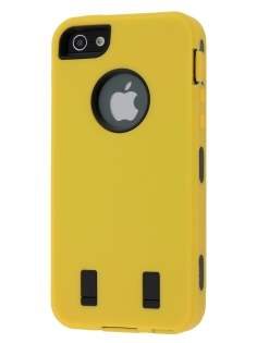 Defender Case for iPhone 5 only - Canary Yellow/Black Impact Case