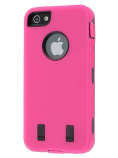 Apple iPhone 5 only Defender Case - Hot Pink/Black Impact Case
