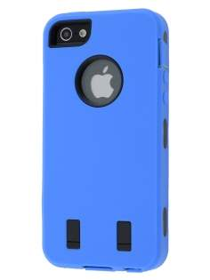 Defender Case for iPhone 5 only - Blue/Black Impact Case