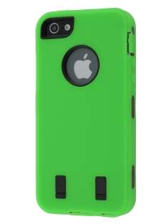 Defender Case for iPhone 5 only - Green/Black Impact Case