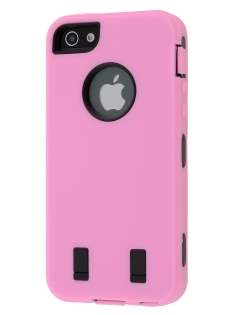 Defender Case for iPhone 5 only - Baby Pink/Black Impact Case