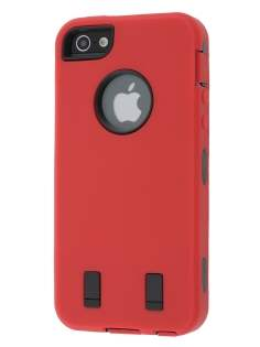 Defender Case for iPhone 5 only - Red/Black Impact Case