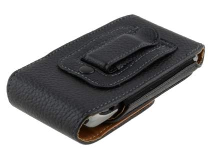Textured Synthetic Leather Vertical Belt Pouch for BlackBerry Torch 9860