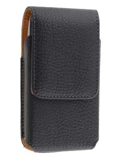 Textured Synthetic Leather Vertical Belt Pouch for BlackBerry Torch 9860 - Belt Pouch