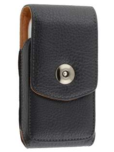 Textured Synthetic Leather Vertical Belt Pouch for Nokia C7 - Belt Pouch