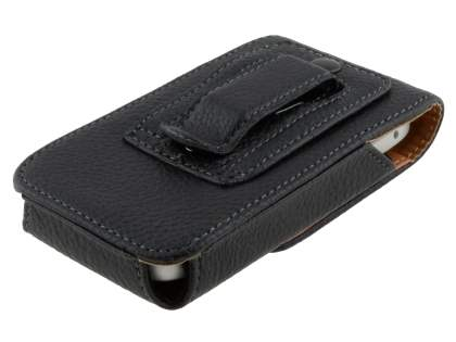 Textured Synthetic Leather Vertical Belt Pouch for Nokia C7