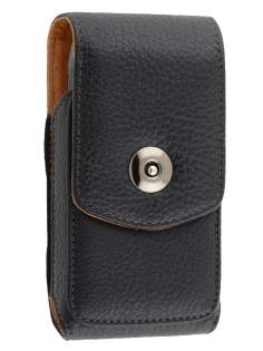 Textured Synthetic Leather Vertical Belt Pouch for Nokia N8 - Belt Pouch