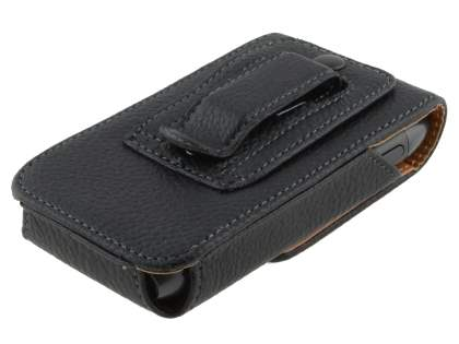 Textured Synthetic Leather Vertical Belt Pouch for Nokia N8
