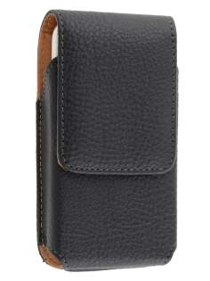 Textured Synthetic Leather Vertical Belt Pouch for Nokia E5 - Belt Pouch