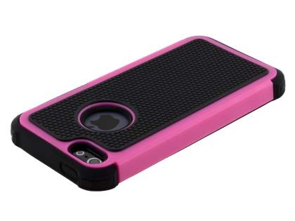 Apple iPhone SE/5s/5 Impact Case - Hot Pink/Classic Black