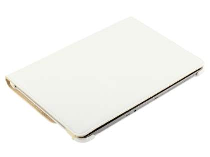 Samsung Galaxy Tab 10.1 VELOCITY Synthetic Leather 360° Swivel Flip Case - White