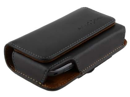 Extra-tough Genuine Leather ShineColours belt pouch for Nokia C3