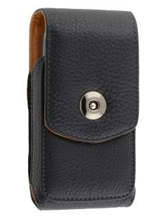 Textured Synthetic Leather Vertical Belt Pouch for Nokia C3