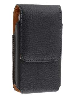 Textured Synthetic Leather Vertical Belt Pouch for Nokia E6