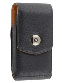 Textured Synthetic Leather Vertical Belt Pouch for Nokia E63 - Belt Pouch