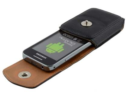 Textured Synthetic Leather Vertical Belt Pouch for Samsung Galaxy Ace S5830
