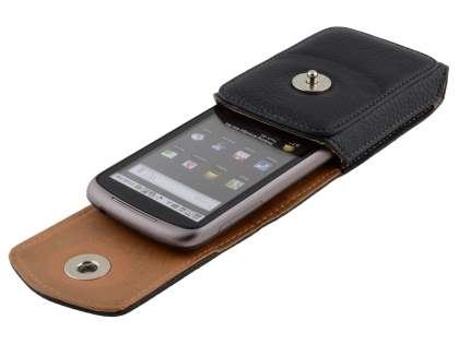 Textured Synthetic Leather Vertical Belt Pouch for HTC Google Nexus One