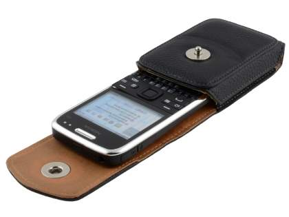 Textured Synthetic Leather Vertical Belt Pouch for Nokia E72