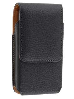 Textured Synthetic Leather Vertical Belt Pouch for Nokia E72 - Belt Pouch