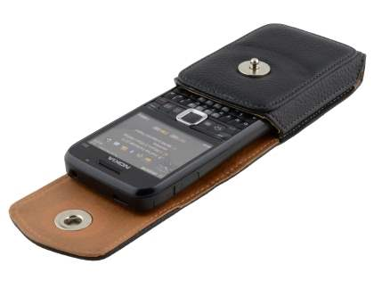 Textured Synthetic Leather Vertical Belt Pouch for Nokia E63