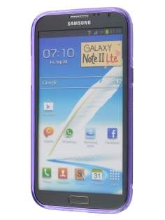 Wave Case for Samsung Galaxy Note 2 4G - Frosted Purple/Purple